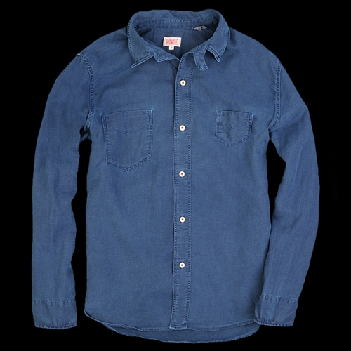 UNIONMADE Levi s Vintage Clothing 1920s Two Pocket Sunset Shirt in Indigo Herring