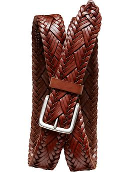 Braided leather belt Banana Republic