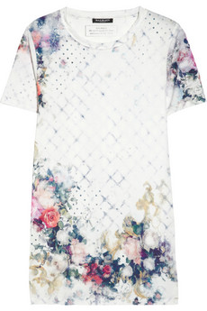 Balmain Printed cotton jersey T shirt NET A PORTER COM