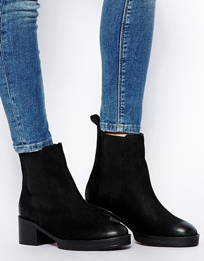 Asos Asos Royal Leather Chelsea Ankle Boots At Asos