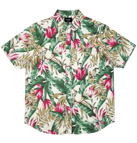 Huf Waikiki Short Sleeved Shirt In Tan Huh. Store