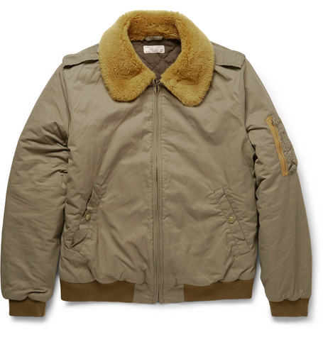 J.Crew Wallace Barnes Shearling Collar Bomber Jacket Mr Porter