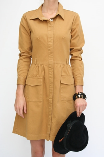 Beklina Stewart Brown Shirt Dress 220 00