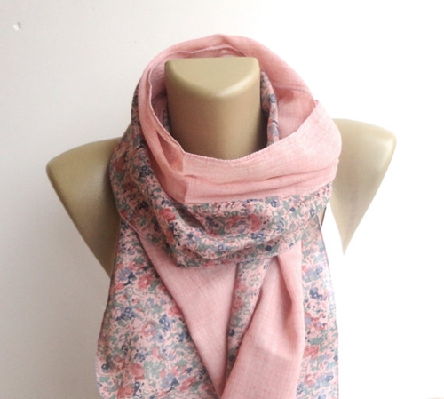Cute Fashion Scarf Floral Print Scarf Women By Senoaccessory