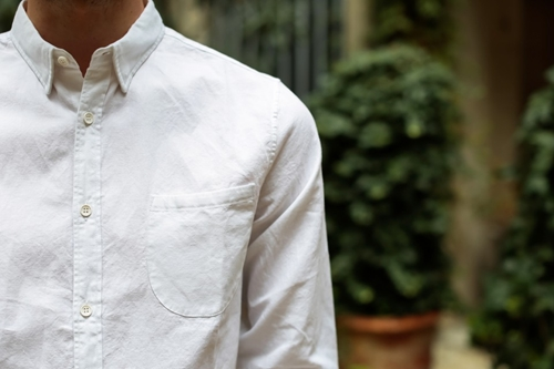 Levi's Made Crafted One Pocket Shirt Brilliant White Oxford Nouveautes
