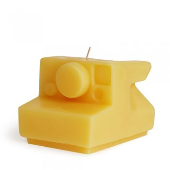 Beeswax Candle Instant Camera Branch Sustainable Design for Living
