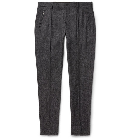 Dolce Gabbana Slim Fit Woven Wool Blend Trousers Mr Porter