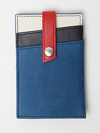WANT Les Essentiels De La Vie JFK Money Clip Wallet in multi at oki ni