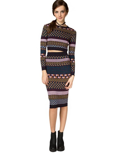 Aspen Cropped Two Piece Sweater Dress Set Cute Fall Dresses