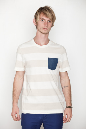 Penny Stock Stripe Penny Pocket Tee