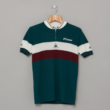 Eroica Racers Zipped Polo Peacock Oi Polloi
