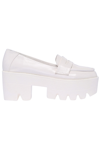 Romwe Romwe Retro White Platform Shoes The Latest Street Fashion