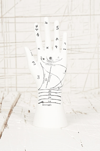 Palmistry Hand Jewellery Stand At Urban Outfitters