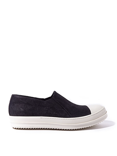 Rick Owens Mens Black Low Ramones Slip On Ln Cc