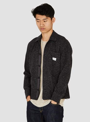 Kyle Rough Wool Jacket Grey Couverture The Garbstore