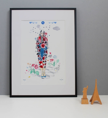 Scorpio Birthday Fashion Illustration Print By Floss Co. Notonthehighstreet.Com