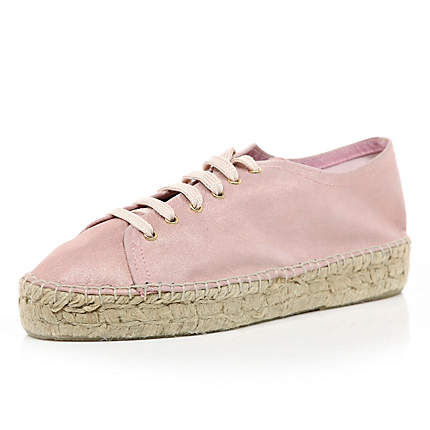 Superdry Shoes - Superdry Espadrille Womens Shoes - Off White/Navy Stripe