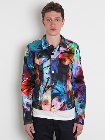 Paul Smith Men's Printed Western Jacket In Multicolour At Oki Ni