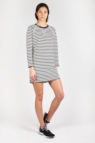 Good As Gold Online Clothing Store Mens Womens Fashion Streetwear Nz Night Call Dress Ivory Black Stripe