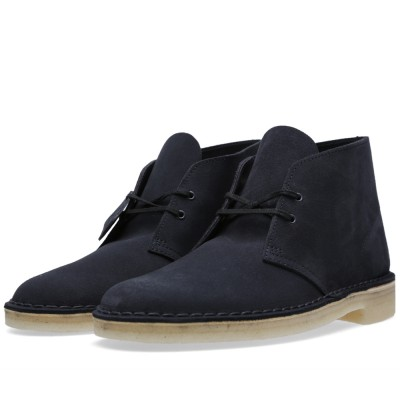 Clarks Originals Desert Boot Dark Navy Suede