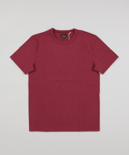 Real McCoy s Loopwheel Tee Burgundy Superdenim