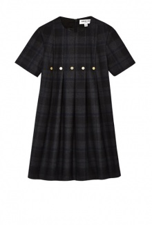 Navy Check Clarence Dress By Eudon Choi