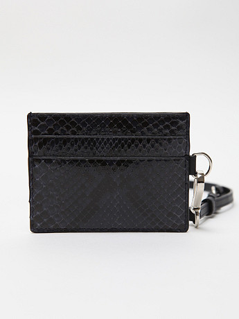 Jil Sander Men s Python Print Card Holder in midnightblue at oki ni