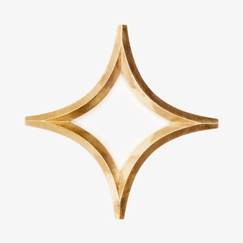 Japanese Brass Trivet Star Poketo