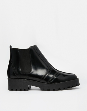 Asos Asos Alter Ego Leather Chelsea Ankle Boots At Asos