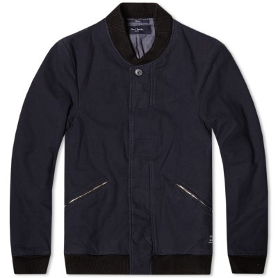 Paul Smith Heavy Twill Lined Bomber Jacket Navy