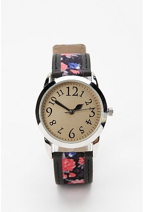 Urbanoutfitters.Com Ditsy Floral Leather Watch