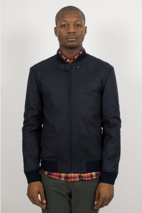 A.P.C. Herringbone Navy Bomber Ideology Boutique