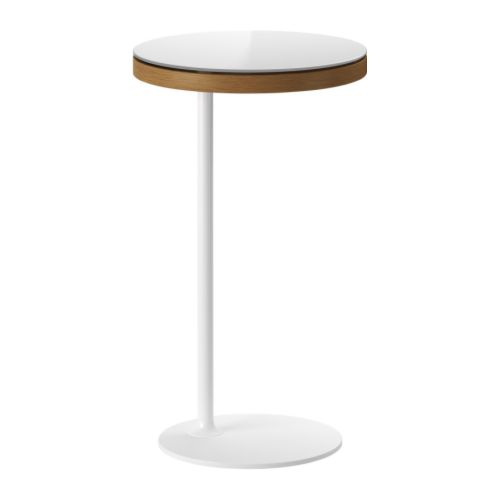 Ikea stockholm table d 39 appoint blanc brun dore ikea nuji for Ikea end tables salon