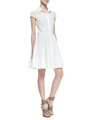 Amanda Uprichard Miah Fit And Flare Shirtdress White