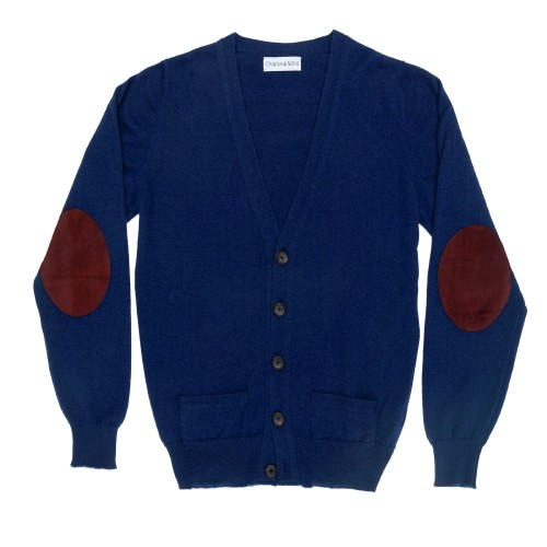 Indigo Luxury Cardigan Sweater Ovadia Sons