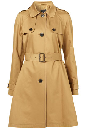 A Line Peter Pan Collar Trench Topshop