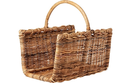 Home Rectangular Log Basket In Living Space