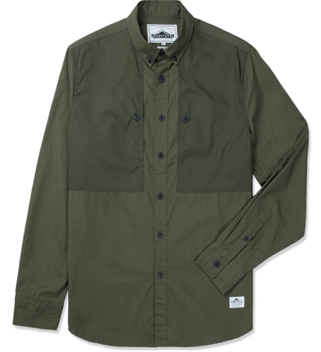 Penfield Olive Lumsden Collarless Overshirt Hypebeast Store. Shop Online For Men's Fashion Streetwear Sneakers Accessories