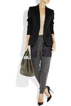 Stella McCartney Wool and cashmere blend tapered pants NET A PORTER COM