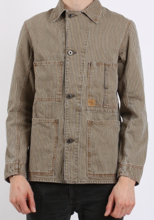 Indigofera Fresno Jacket Root Hickory Stripe Pede Stoffer webshop