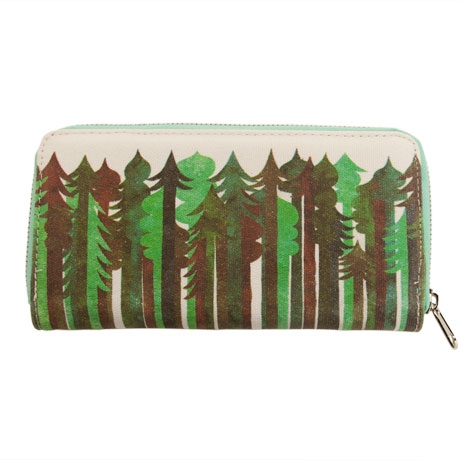 Poketo Jolby Evergreen Canvas Zip Wallet