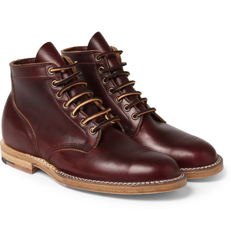 Viberg Leather Lace Up Boots Mr Porter