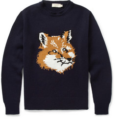 Maison Kitsune Fox Knitted Wool Sweater