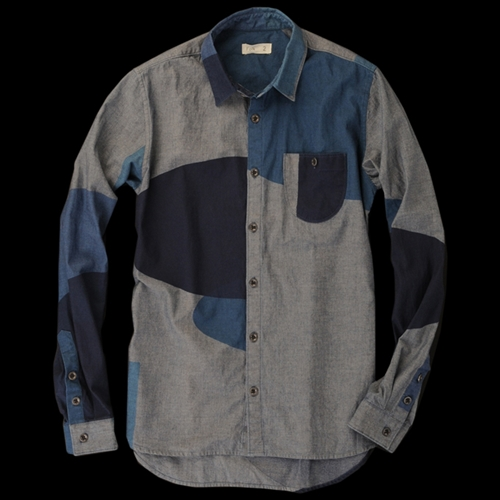 UNIONMADE Folk Block Print Chambray Shirt