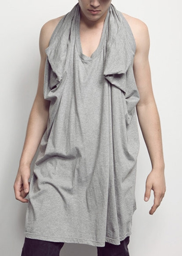 complexgeometries long strap tank grey heather