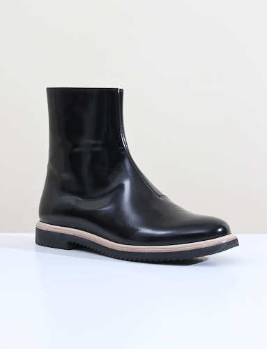 Mm6 Flat Boot Black