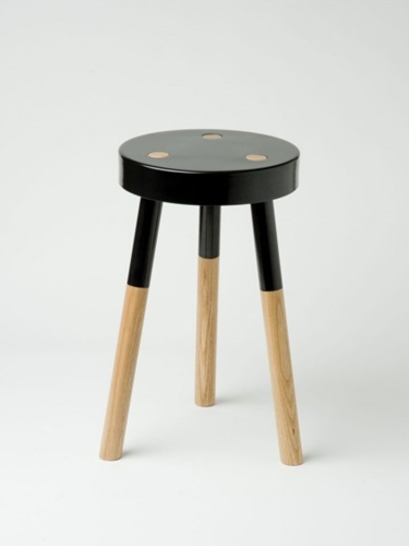 Black Y stool by Tim Webber Douglas Bec
