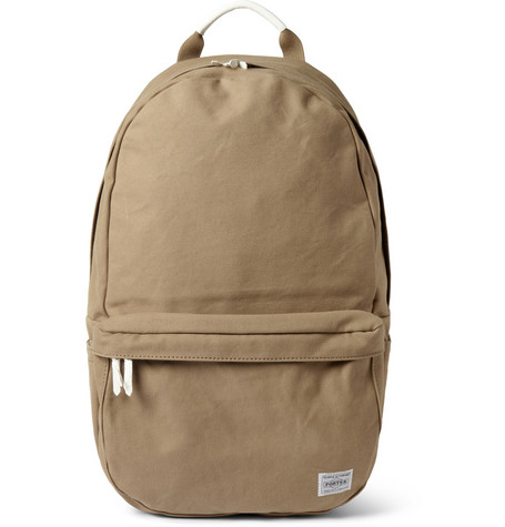 Porter Yoshida Co Beat Leather Trimmed Cotton Canvas Backpack Mr Porter