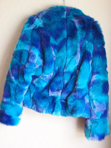 Versace Faux Fur jacket NWT L circa Hey Mr by dresslikeamoviestar