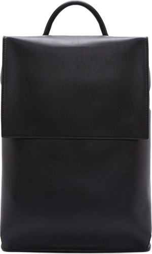 Balenciaga Black Leather Structured Backpack Ssense